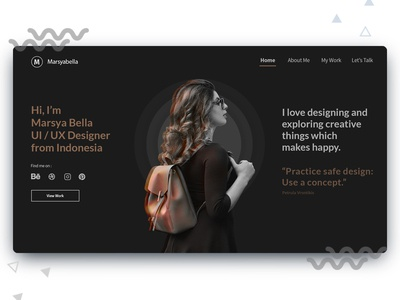 Portfolio web UI for Designer