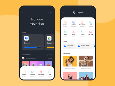 File Manager App ux apps ui design folder uiux storage mobile files file manager dashboard aplication app