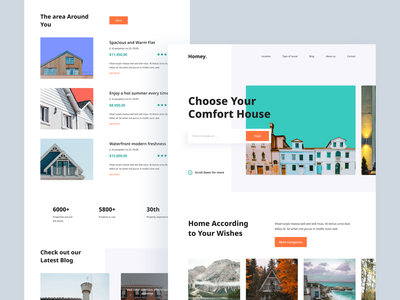 Real Estate - Exploration Landing Page web house card pay realestate home branding landing page landingpage homepage ux website ui design