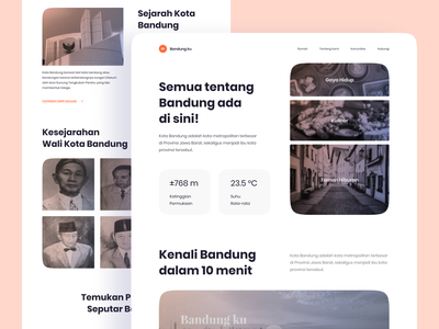 Explore The City - Landing Page webdesign uiux president indonesia bandung city branding story place explore city landing page landingpage homepage website ux clean ui design