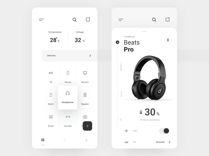 Smart Home Devices mobile app minimal app ios clean apps mobile uiux devices smart home ui