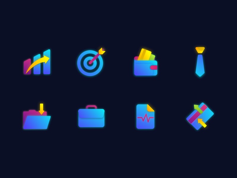 Business Icons iconset design transaction report jobs download business wallet target statistic icon