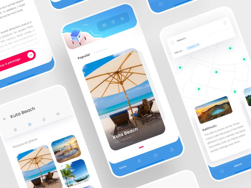 Travel Application adventure trips home travel trip clean ui illustration mobile apps design