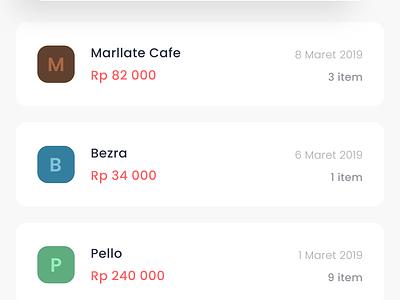 Digital menu menu order eat clean mobile ui apps design