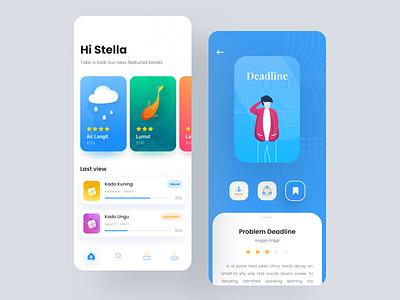 e-book book bookapp bookstore app illustration mobile clean ui apps design