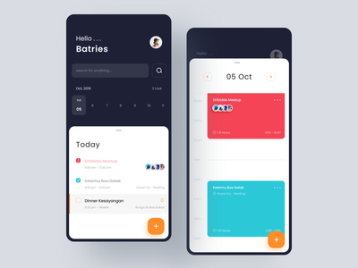 Schedule Mobile note schedule app mobile clean ui apps design