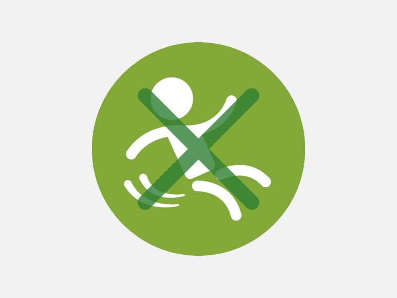 Anti-Slip Icon icon flat pictogram slippery wet