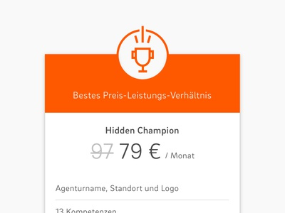 Pricing Table Trophy