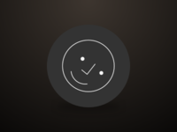 Checkmark Face happy line ui icon smiley face checkmark