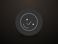 Checkmark Face happy line ui icon smiley face checkmark