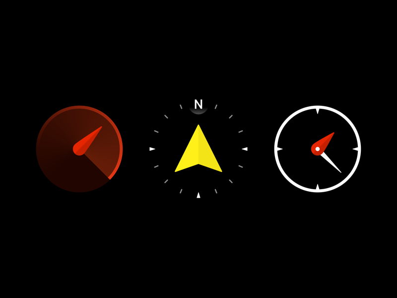 App Icons icon design compass altitude speed app icons icon icons set ios iphone watch os