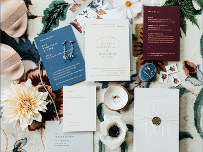 Jess + Matt — Wedding Suite letterpress print gold foil wedding invite wedding invitation wedding
