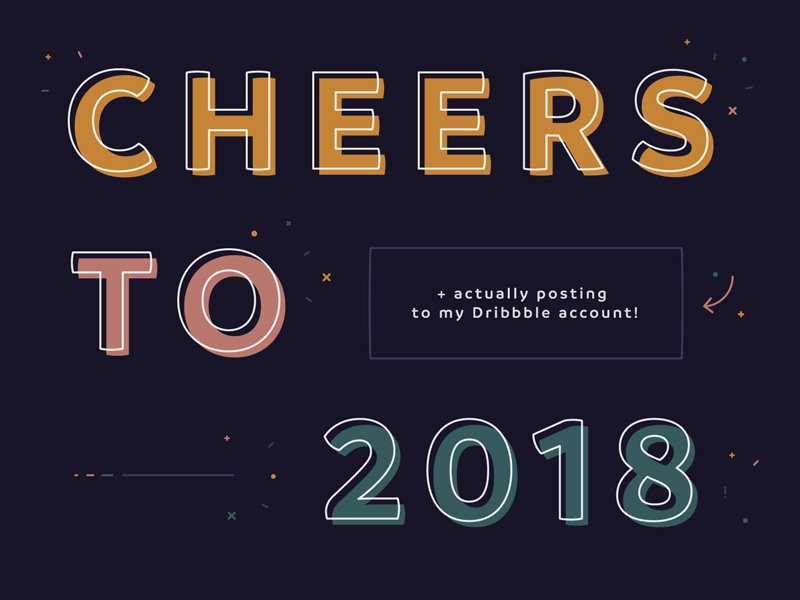 Cheers to New Years and Debuts! new years 2018 typography debut