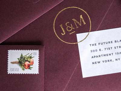 Wedding Monogram Stamp