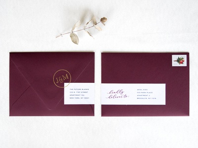 Burgundy Wedding Envelopes