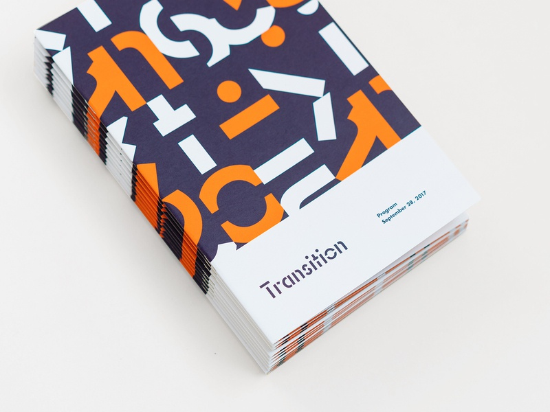 Transition Program orange geometric shapes transition percolate pattern identity branding