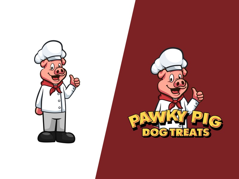 Pawky Pig mascot design mascot character mascot cartoon character animal cartoon cute vector design illustration character