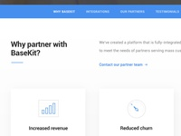 BaseKit Partner Page Design