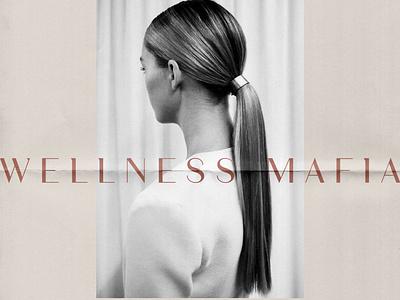 Wellness Mafia Branding new york design minimal logo modern feminine chic brand identity branding logo layout design