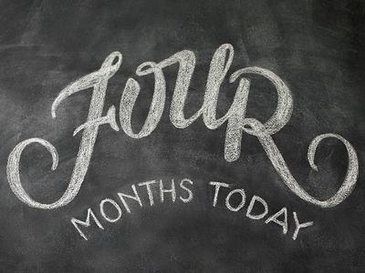 12 months in chalk / FOUR