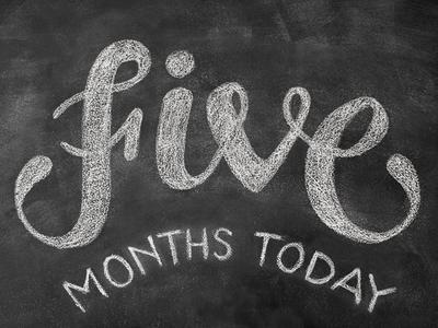 12 months in chalk / FIVE