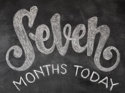 12 months in chalk / SEVEN