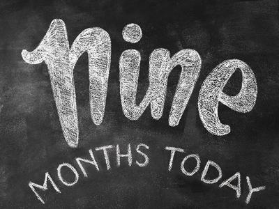 12 months in chalk / NINE