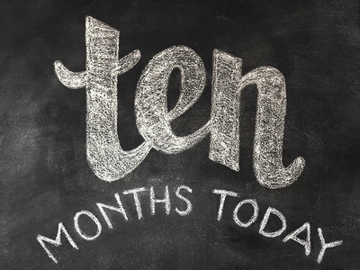 12 months in chalk / TEN