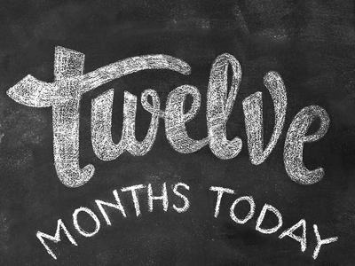 12 months in chalk / TWELVE