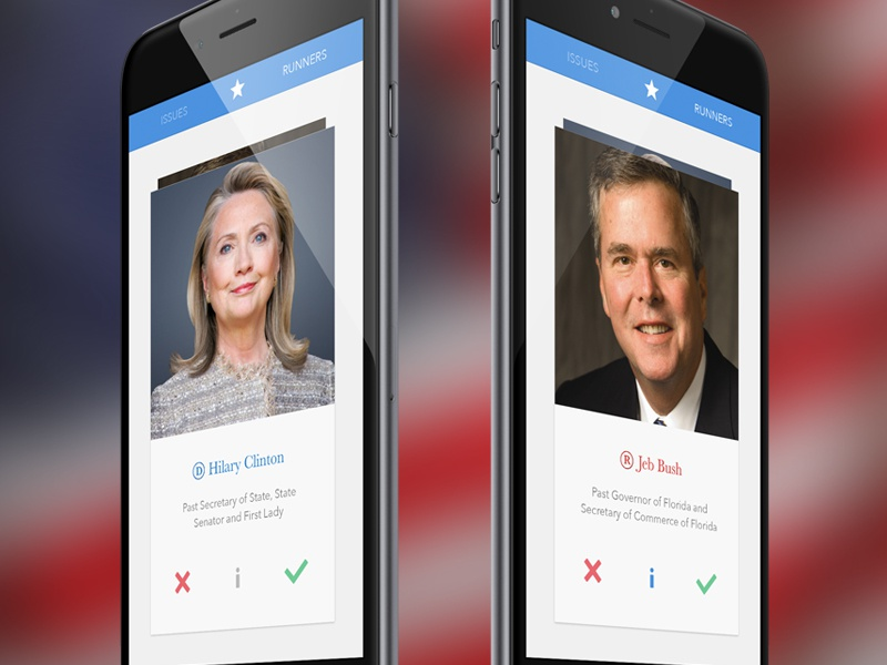 Presidential Tinder vote tinder republican democrat presidents