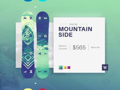 012 E-Commerce Item snowboard shot product 012 dailyui