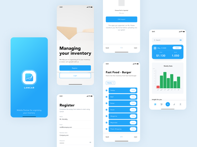 App - Inventory management caha ui trends list tools moden minimalis clean ux card chart graphic real time inventory inventory management software iphone application ios ui stock inventory management