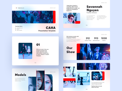Presentation - Fashion Agency typography slide card model template pitch deck editorial design layout clean keynote powerpoint light fashion fashion show presentation gradient