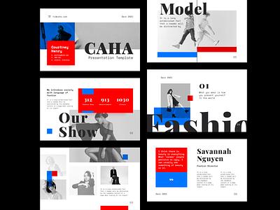Presentation - Fashion fashion show typography keynote powerpoint slide model fashion editorial pitch deck template layout presentation