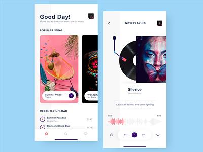 App - Music Player annisha play sing song music art ios mobile ui design ui music player vinyl music app music application app