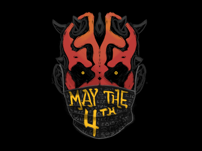 May the 4th - Darth Maul PPE wars star pandemic virus coronavirus corona ppe evil sith maul darth force starwars poster design typography