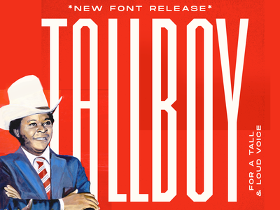 TALLBOY™ Typeface Release (FREE) free new big loud tallboy boy compressed ultra condensed tall poster branding design type typography