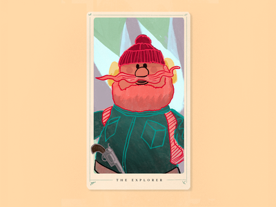 Monday Madness - Yukon Cornelius Tarot winter snow cornelius yukon xmad classic christmas rudolph explorer tarot procreate ipad illustration poster type design