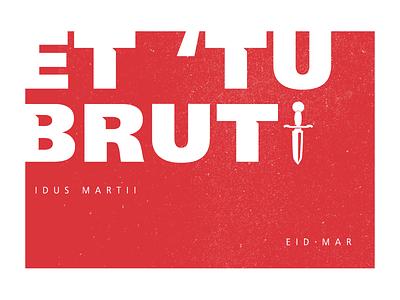 Monday Madness Week 5 - Frutiger frutiger typography murder caesar roman history