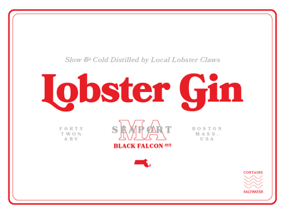 Monday Madness Week 18 - Bookmania beer typography branding massachusetts nautical ocean sea bookmania gin alcohol boston lobster
