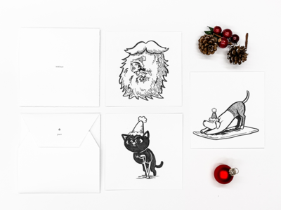 Saball Christmas Card 2018 cards doodle card christmas holiday art illustration typography