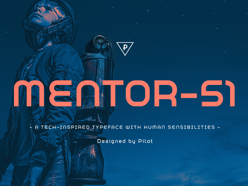 Mentor- 51 Typeface (Release) future robot tech graphic sans serif sci-fi design boston type branding typography