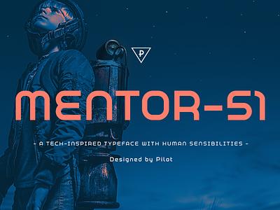Mentor- 51 Typeface (Release) future robot tech graphic sans serif sci-fi design boston type branding typography