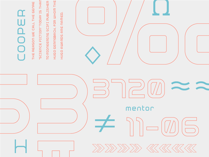 Mentor-51 Development Preview sans serif mono futuristic new science sci-fi font future design branding type typography