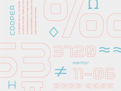 Mentor-51 Development Preview sans serif mono futuristic new science sci-fi font future design branding type typography