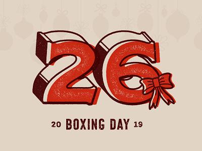 Advent Calendar Number 26 - BSDS Challenge winter holidays boxing holiday christmas logo illustrator design branding type typography