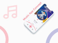 iOS Music app concept iphone X/XS