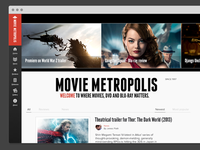 Movie Metropolis redesign - home screen