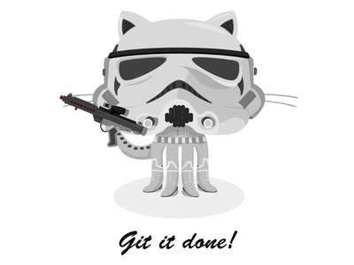 Idea for a series of GitHub posters poster github star wars