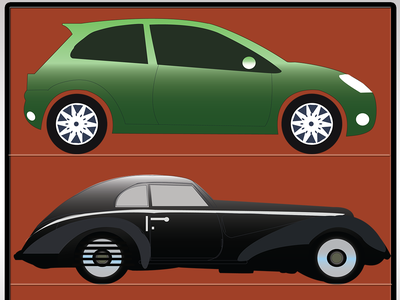 Illustrator Car Model 1970 80 graphic design vector character blue website typography logo mobile illustration icon design branding animation